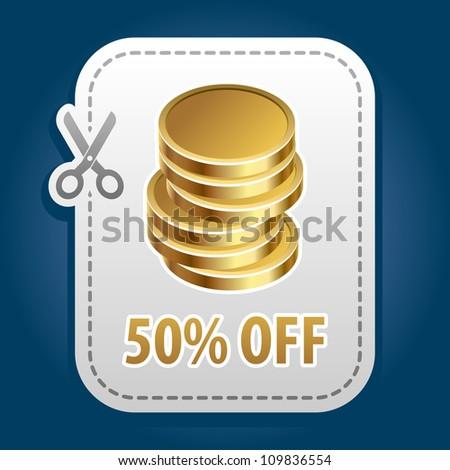 Discount label. Vector. - stock vector