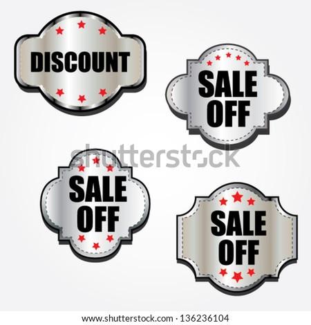 Discount labels. - stock vector