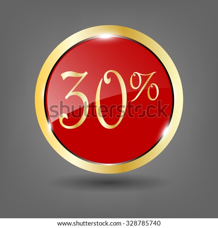 Discount labels. Sale icon. Vector