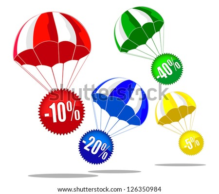 discount labels.vector 3 - stock vector