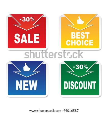 Discount labels.Vector - stock vector