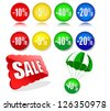 discount labels.vector illustration - stock photo