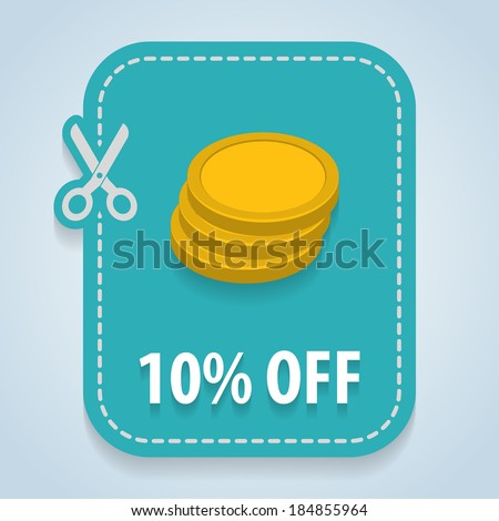 Discount price tag. Vector  - stock vector