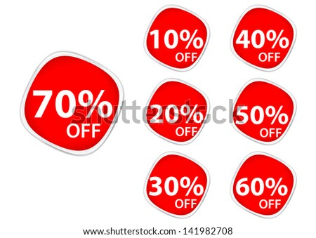 Discount price tags. square sticker label - stock vector