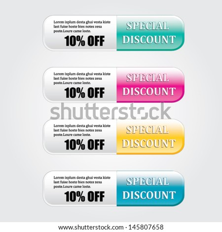 Discount price vector - stock vector