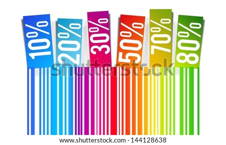 Discount prices vector illustration - stock vector