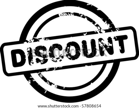 Discount rubber stamp - stock vector