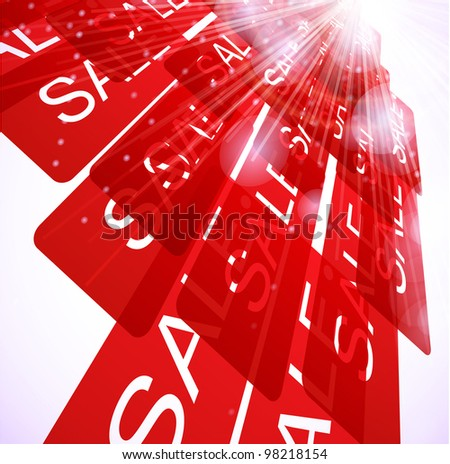 Discount sale abstract background. - stock vector