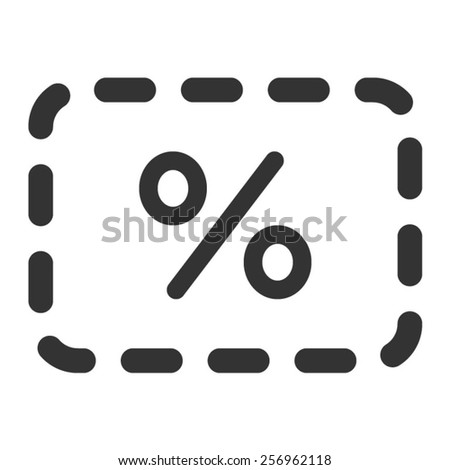 Discount sale coupon line art icon for apps - stock vector