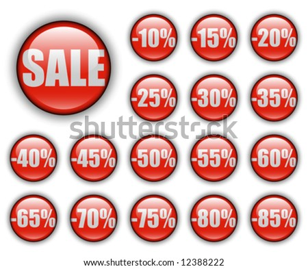 discount sales; vector web buttons