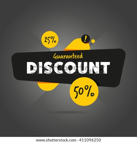 Discount sticker. Offer sticker. Discount label. Special discount vector label. Sale sign. Discount element template. Special offer sticker. Promo sticker. Discount icon. Discount vector banner. Sale. - stock vector