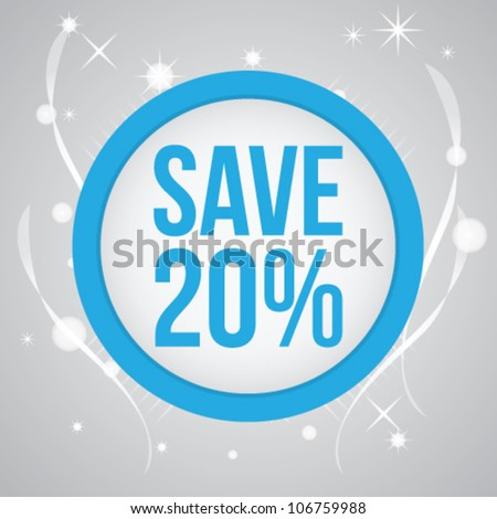 discount sticker with Light Background Vector - stock vector
