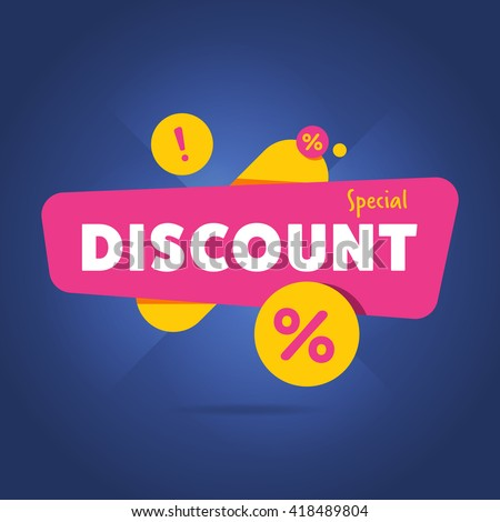 Discount stock images royalty free images vectors shutterstock discount tag with special offer sale sticker promo tag discount offer layout sale label pronofoot35fo Choice Image