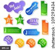 Discount tags. Sale stickers - stock vector