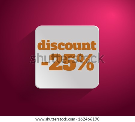 Discount text with numbers - stock vector