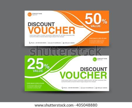 Discount voucher template coupon designticket card stock vector hd discount voucher template coupon designticket card designgift voucher template yelopaper Images