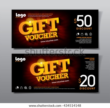 Discount voucher template with clean and modern pattern. Vector illustration. - stock vector