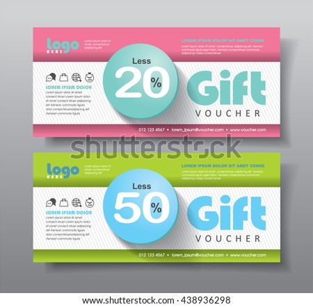 Discount voucher template with clean, modern, rich and golden pattern. Vector illustration - stock vector