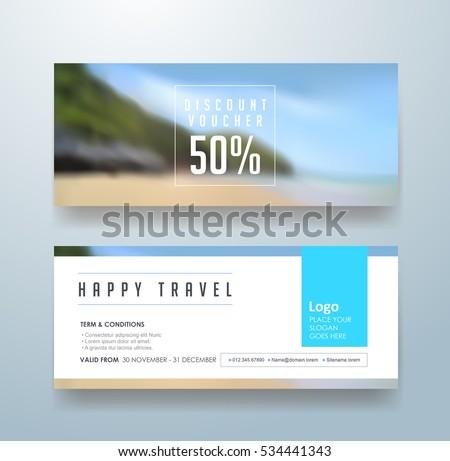 discount voucher template with modern colorful patternbannerflyervector illustration
