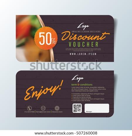 Discount Voucher Template Thai Food Flat Vector 429087421 – Lunch Voucher Template