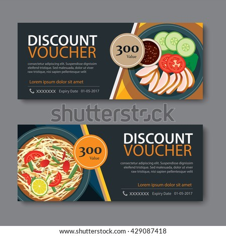 Food Coupon Template Stock Images RoyaltyFree Images  Vectors