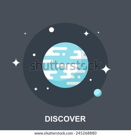 Discover - stock vector