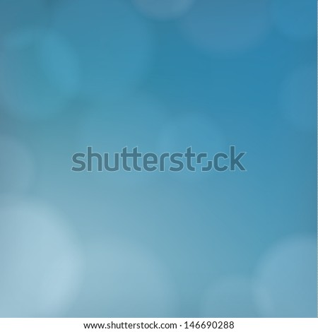 Discreet vector background. Calm blue sky. Square background for website, product cover or presentation. Neutral backdrop with blurred points - stock vector
