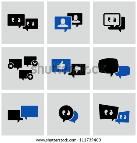 Discussion icons set. - stock vector