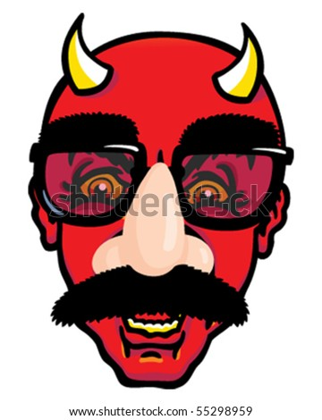 Disguise devil - stock vector