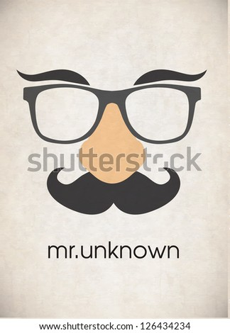 Disguise mask - stock vector