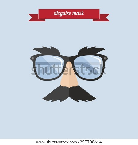 Disguise mask. Flat style design - vector - stock vector