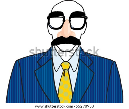 Disguise person - stock vector