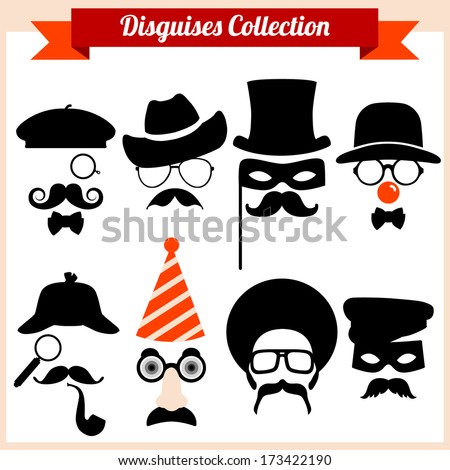 Disguises Collection - stock vector