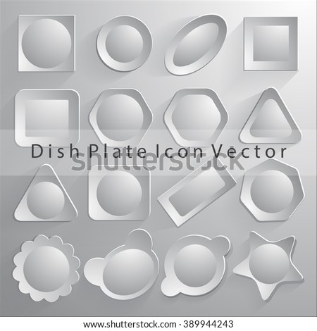 dish plate icon vector