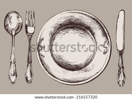 Dishes Set  - stock vector