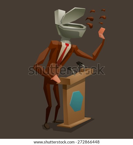 dishonest politician,vector - stock vector