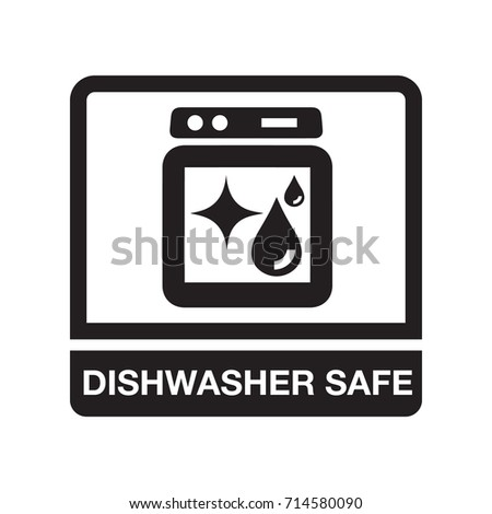 Dishwasher Safe Stock Vector Hd Royalty Free 714580090 Shutterstock