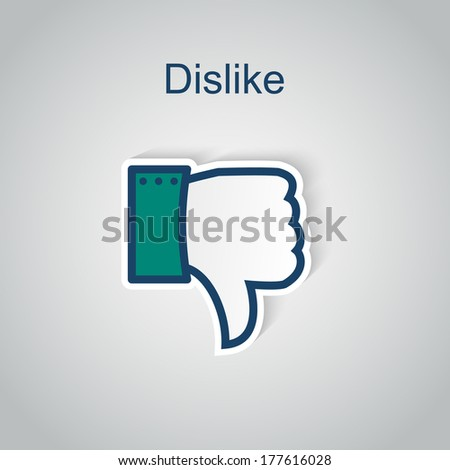 Dislike icon.  - stock vector