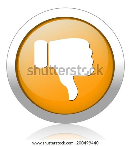 Dislike (thumbs down icon) - stock vector