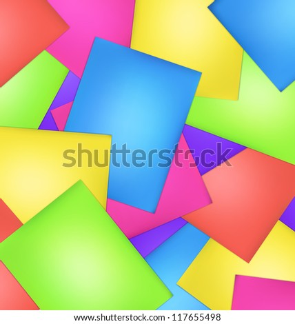 Disorder of colorful Papers background