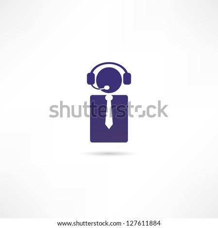 Dispatcher icon - stock vector