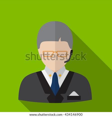 Dispatcher Icon, Dispatcher Icon Eps10, Dispatcher Icon Vector, Dispatcher Icon Eps, Dispatcher Icon Jpg, Dispatcher Icon, Dispatcher Icon Flat, Dispatcher Icon App, Dispatcher Icon Web - stock vector