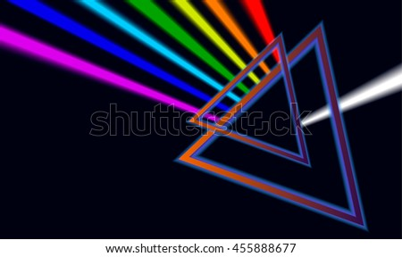 dispersion colors. vector