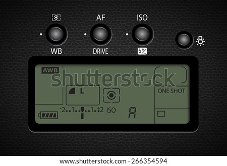 display and button control for camera vector