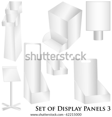 Display, billboard vector set illustration isolated on white - stock vector