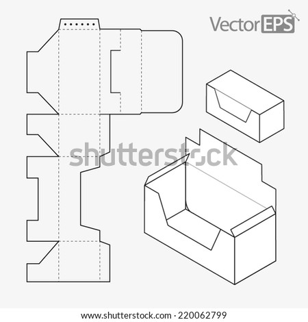 display box stock vector 220062799 shutterstock. Black Bedroom Furniture Sets. Home Design Ideas