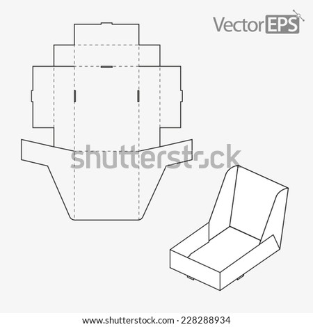 Display box - stock vector