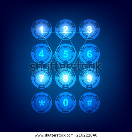 display button telephone dial technology, vector illustration