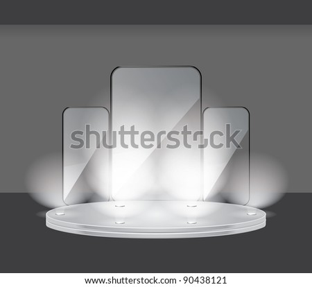 Display stage - stock vector