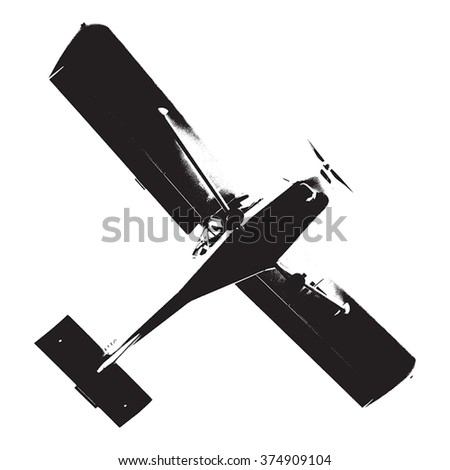 Distress Airplane Texture - stock vector